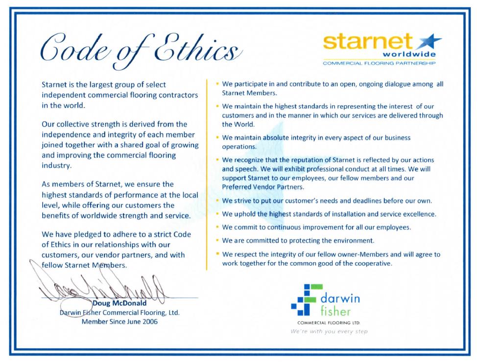 Starnet Code Of Ethics